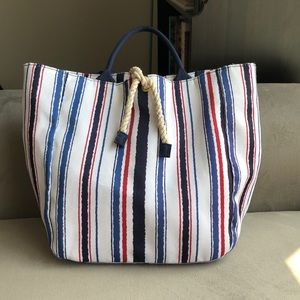 Estée Lauder tote bag in red, white, and blue